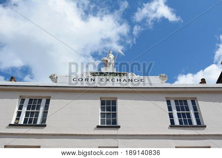 Facade Of The Historic Corn Exchange Building In Tunbridge Wells