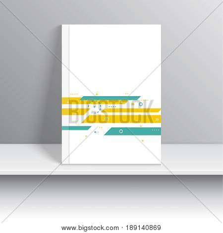 Cover for journal, magazine. Leaflet Flyer template A4 size design. Layout for book, brochure, flyer, poster, booklet, leaflet, postcard flier headline annual report vector