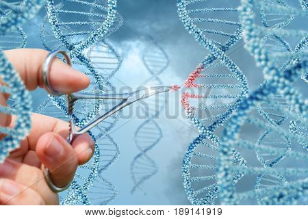 Hand Inserts A Molecule Into Dna.