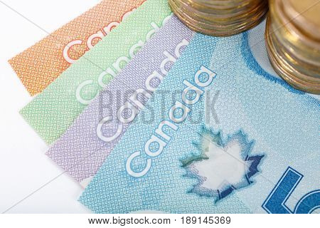 Canadian Dollar concept of business and finance