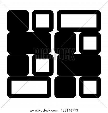 Tile  The Black Color Icon .