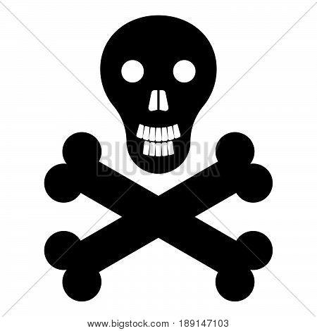 Skull And Bones  The Black Color Icon .