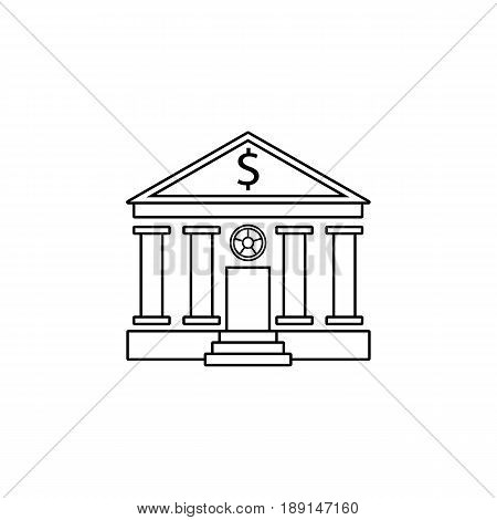 Bank building line icon, banking house, vector graphics, a linear pattern on a white background, eps 10.