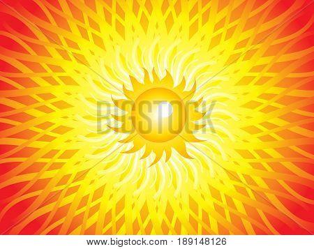 abstract artistic sun beam background vector illustration