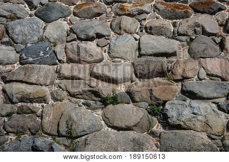 Texture of old stones wall of ancient monastery