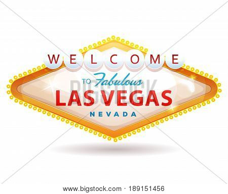 Illustration of a cartoon classic welcome to fabulous las vegas message