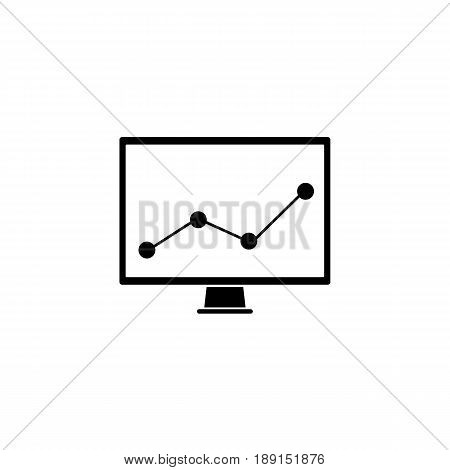 Market monitoring solid icon, computer analysis, vector graphics, a filled pattern on a white background, eps 10.