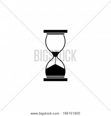 Business time management and deadline solid icon, hourglass and finance clock, vector graphics, a filled pattern on a white background, eps 10.