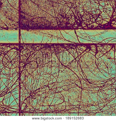 Abstract grunge textured background. With different color patterns: blue; cyan; yellow (beige); purple (violet); pink