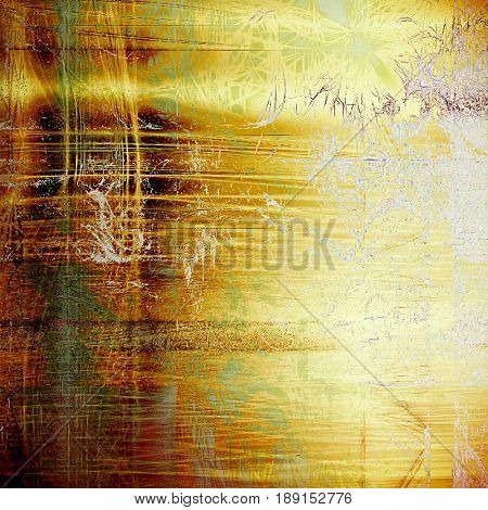 Creative vintage grunge texture or ragged old background for art projects. With different color patterns: yellow (beige); brown; green; gray; white
