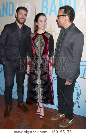 LOS ANGELES - MAY 31:  Adam Pally, Zoe Lister-Jones, Fred Armisen at the