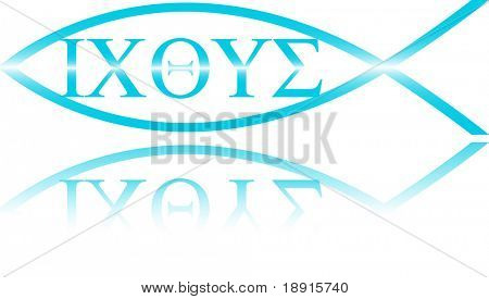 Christian Ichthys symbol, the greek original of the