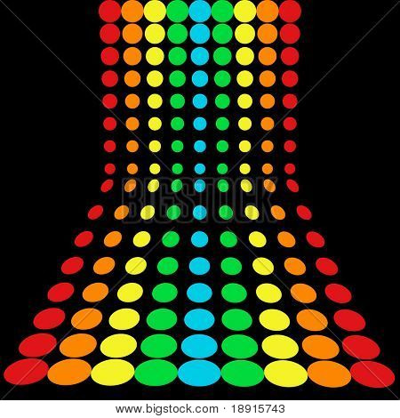 rainbow dots pattern