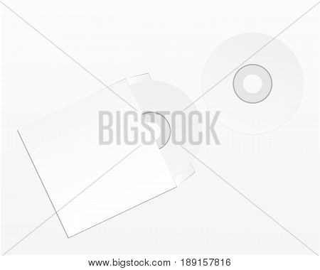Blank compact disk isolated on white background.