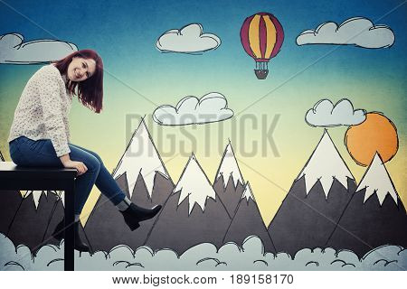 Relaxing Student Girl