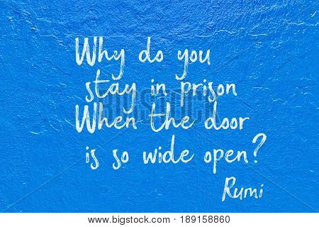 Stay In Prison Blue Rumi