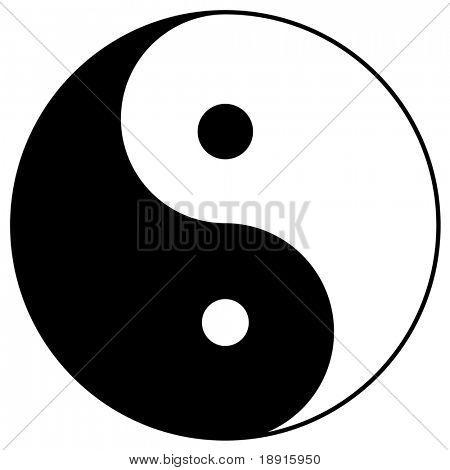 yin yang, taoistic symbol of harmony and balance