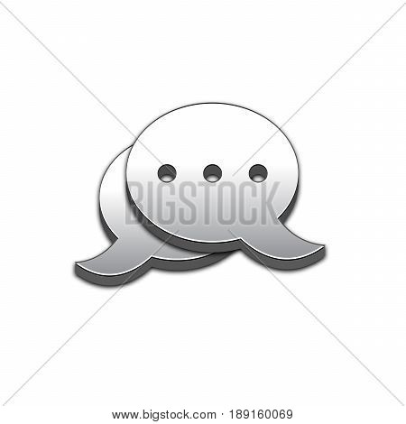Blog Icon in trendy 3d style isolated on white background. Blogging symbol for your web site design, logo, app, UI. Vector illustration, EPS10.