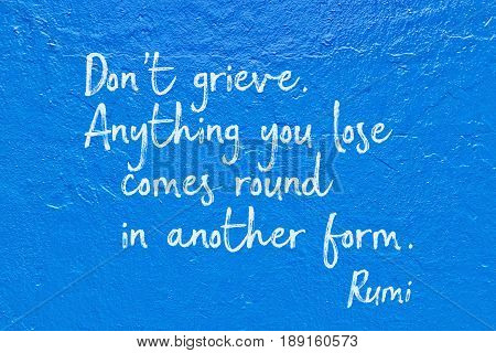 Do Not Grieve Blue Rumi