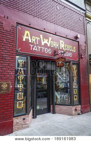 Artwork rebels Tattoo studio in Portland - PORTLAND - OREGON