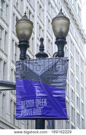 Sign for Design Week in Portland - PORTLAND - OREGON