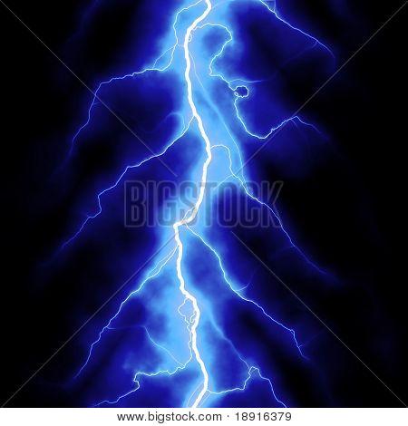 blue lightning bolt over black