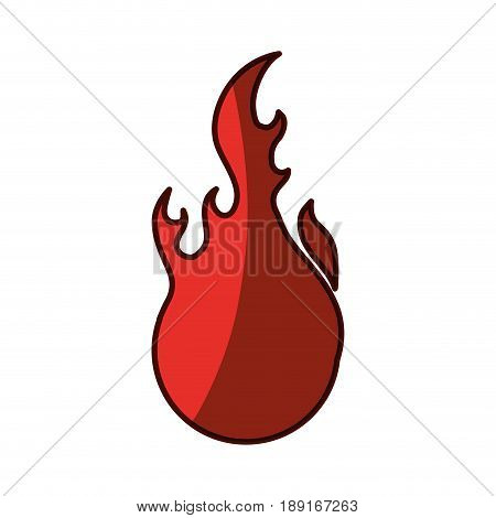 Fire burn flamme icon vector illustration graphic design