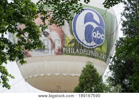 PHILADELPHIA, PA - MAY 30: Philadelphia Zoo, Amercia's First Zoo, wildlife refuge and zoological garden on May 30, 2017