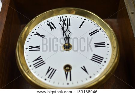Clock Showing Noon Or Midnight