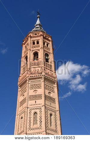 Bell Tower Of San Andres Church (moorish Style). Calatayud, Zaragoza, Aragon, Spain, Europe