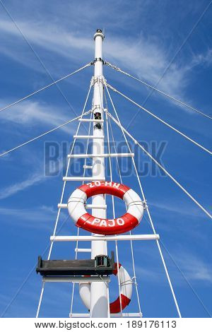 Ring-buoy and blue sky Herceg Novi Montenegro