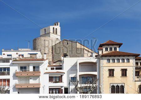 Sant Jaume Church Of Sant Pol De Mar, El Maresme, Barcelon Province, Catlonia, Spain