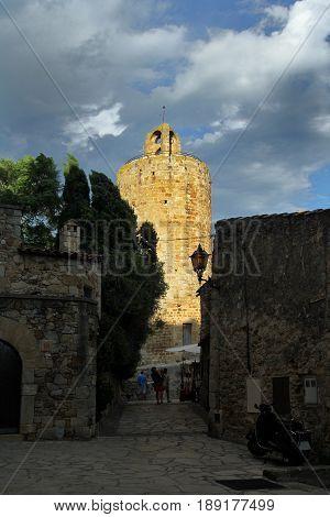 Tower of Pals Girona Costa Brava Catalonia Spain