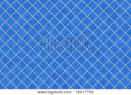 Blue tiles texture background, kitchen or bathroom concept