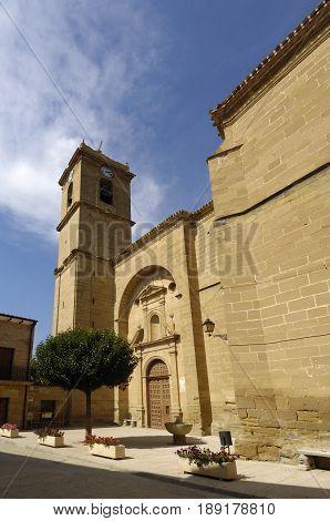 San Martin church of Casalareina La Rioja Spain