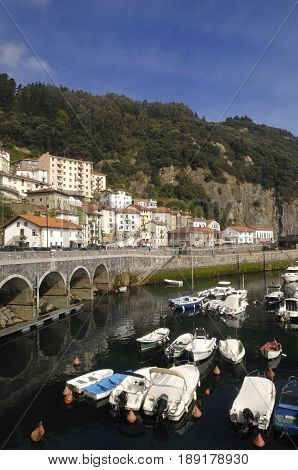 village and port of Elantxobe Basque Country Spain