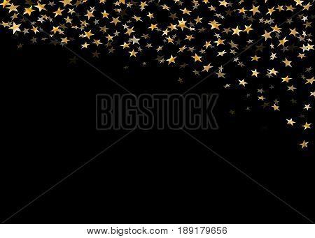 Gold Star Confetti Background