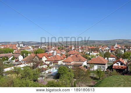 View of the village of Alba Iulia from the walls Alba Iulia Transylvania Romania