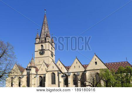 Evangelical Cathedral, Piata Huet, Sibiu,Transylvania in Romania