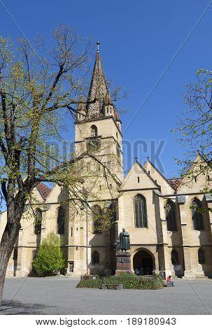 Evangelical Cathedral Piata Huet Sibiu Transylvania Romania