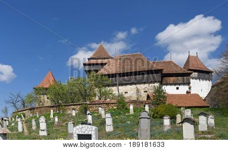 the fortified church of Viscri Transylvania Romania