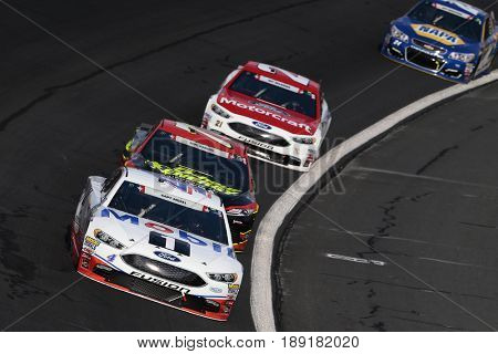 May 28, 2017 - Concord, NC, USA: Kevin Harvick (4) brings his car through the turns during the Coca Cola 600 at Charlotte Motor Speedway in Concord, NC.