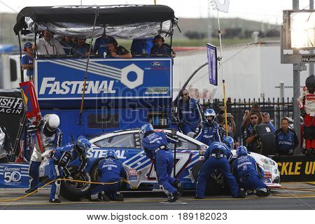 May 28, 2017 - Concord, NC, USA: Ricky Stenhouse Jr. (17) comes down pit road for service during the Coca Cola 600 at Charlotte Motor Speedway in Concord, NC.