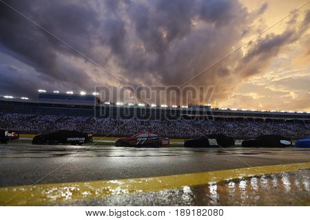 May 28, 2017 - Concord, NC, USA: Heavy rain puts a hold on the Coca Cola 600 at Charlotte Motor Speedway in Concord, NC.