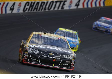 May 28, 2017 - Concord, NC, USA: Jamie McMurray (1) battles for position during the Coca Cola 600 at Charlotte Motor Speedway in Concord, NC.