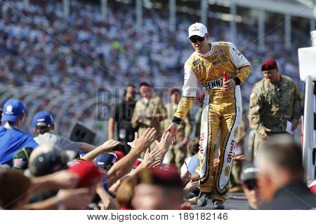 May 28, 2017 - Concord, NC, USA: Joey Logano (22) walks to his car for the Coca Cola 600 at Charlotte Motor Speedway in Concord, NC.