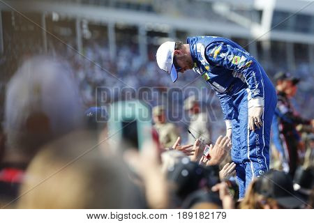 May 28, 2017 - Concord, NC, USA: Dale Earnhardt Jr. (88) walks to his car for the Coca Cola 600 at Charlotte Motor Speedway in Concord, NC.