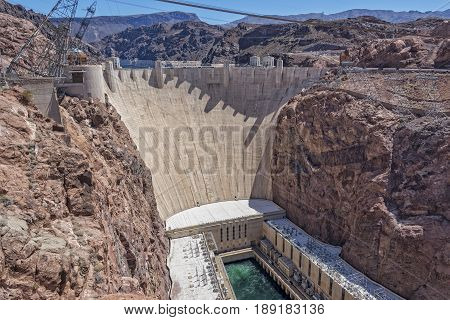Hoover Dam Viewed From The Nevada Side