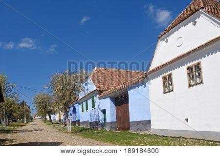 traditional Romanian village of Viscri Transylvania in Romania