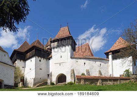 fortified church of Viscri Transylvania in Romania